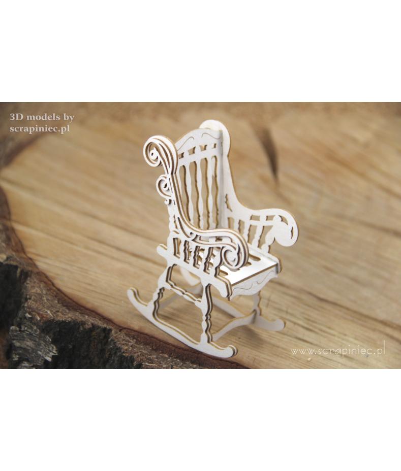 Zestaw elementów tekturowych krzesło bujane Scrapiniec