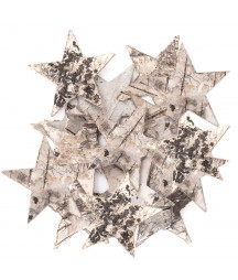 Gwiazdki z kory - dekory do scrapbookingu