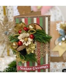 Kwiatki papierowe handmade DP Craft, Mix Pasteli 9 szt. CEKP-059