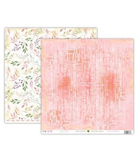Papier do scrapbookingu 12x12, oho BOHO - Pinky Minky [UHK]