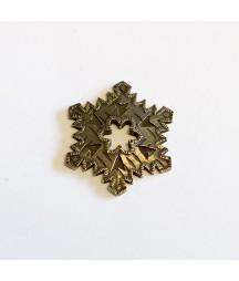 Ozdoba metalowa Mitform, Boże Narodzenie - Śnieżynka duża, wzór 1