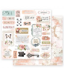 Papier do scrapbookingu Prima Marketing, Apricot Honey Deep Love 849184