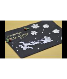 Marker śniegowy - śnieg w pisaku Uchida - do papieru i tkanin