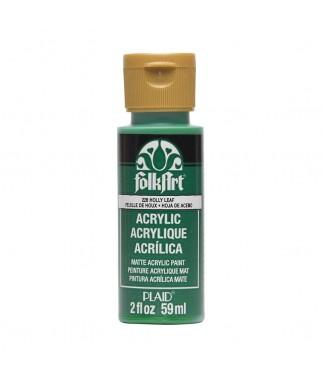 Farba akrylowa do decoupage, Plaid FolkArt, Holly Leaf - zielony ostrokrzew