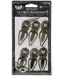 Klipsy metalowe Prima Art Daily Victorian Bookmarks 6 szt. 964863