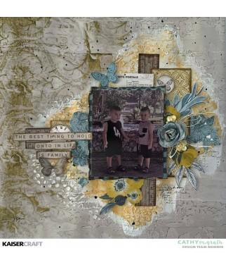 Papier do scrapbookingu Kaisercraft, Antiquities - Belved P2747 - inspiracja