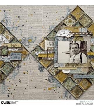 Papier do scrapbookingu Kaisercraft, Antiquities - Heirloom P2742 - inspiracje