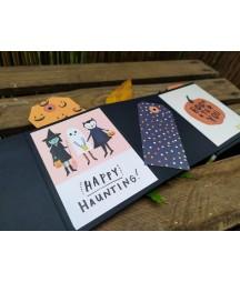 Halloweenowe inspiracje -  album harmonijkowy - scrapbooking