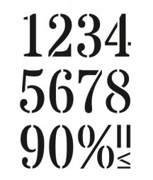 Szablon do decoupage A5 Daily Art - Numbers Large