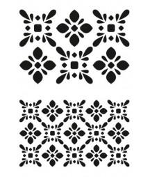 Szablon A5 do decoupage Daily Art - Tiles 2 - płyteczki