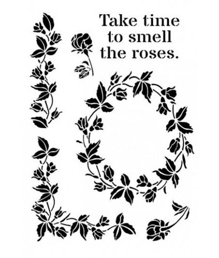 Szablon do decoupage A4 Daily ART - Smell the Roses