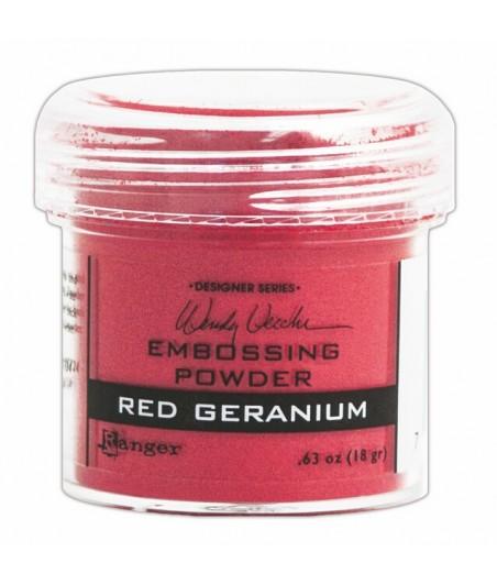 Puder do embossingu Ranger, czerwony Red Geranium
