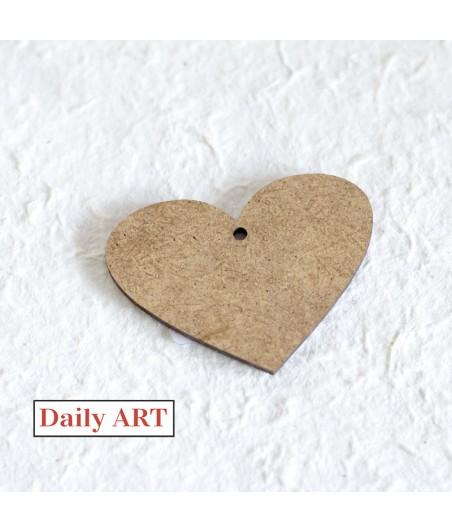 Serce z HDF - zawieszka - baza do ozdabiania - Daily Art