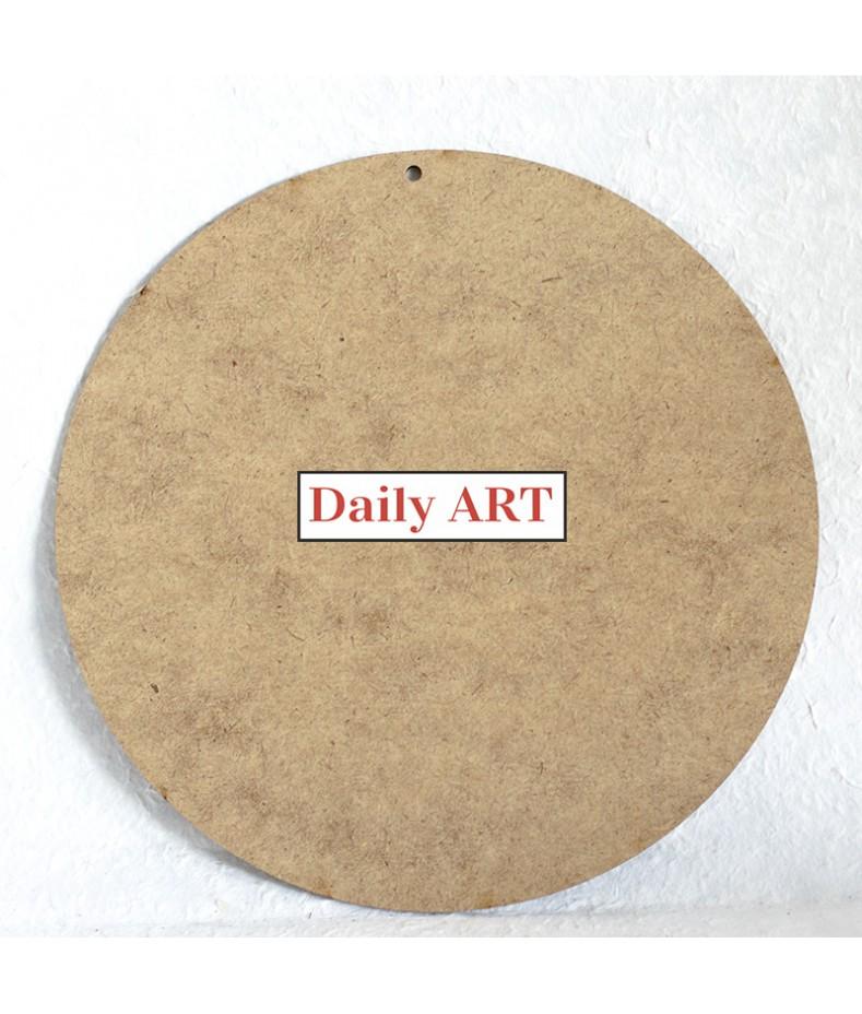 Zawieszka z HDF - okrągła baza do ozdabiania np. decoupage - średnica 24 cm