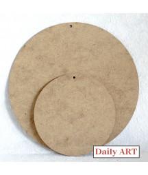 Zawieszka okrągła, koło z HDF 24x24 cm, Daily Art