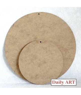 Zawieszki z HDF - okrągłe bazy do ozdabiania np. decoupage - średnica 24 i 15 cm