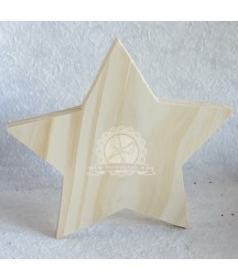 Dekoracje świąteczne - gwiazda stojąca z drewna 16 cm