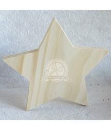 Dekoracje świąteczne - gwiazda stojąca z drewna 11 cm