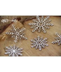 Elementy tekturowe Scrapiniec, Flowers of Winter - Śnieżynki
