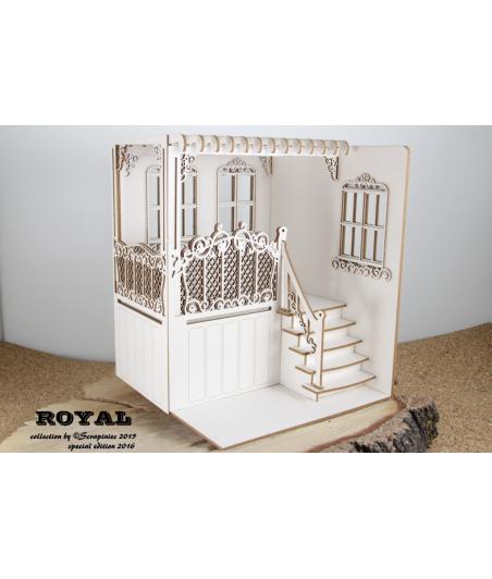 Zestaw elementów tekturowych, Balkon 3D, 4239 [Scrapiniec]