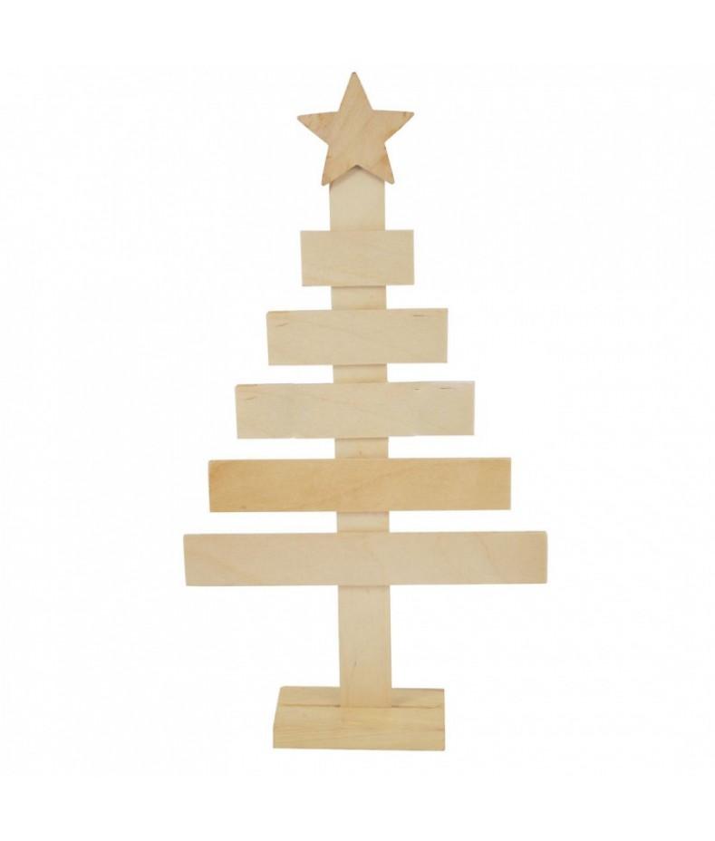 Prosta drewniana choinka - dekoracja świąteczna - baza do ozdabiania