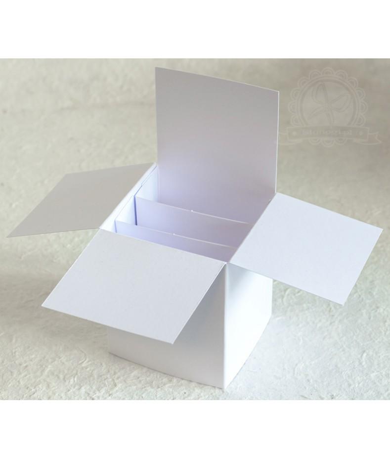 Pudełko pop up do ozdabiania - białe