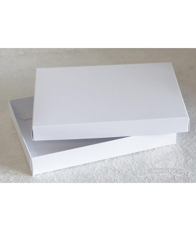 Pudełko pełne białe na kartkę C6