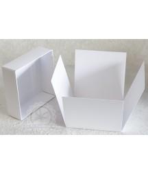 Exploding box - baza pudełka do ozdabiania 10x10 cm biała RzP