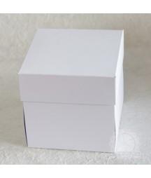 Baza do exploding-box'a 10x10 cm z harmonijką biała RzP