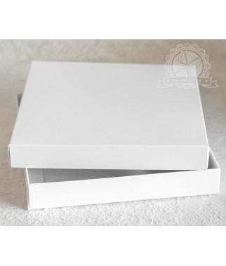 Pudełko kwadratowe pełne białe na kartkę 15x15 cm
