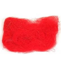 Sizal naturalny czerwony - do dekoracji i ozdabiania