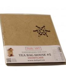 Herbaciarka z HDF, Domek ze śnieżynką - baza do decoupage Daily Art