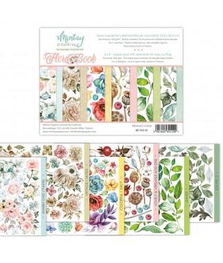 Papiery do scrapbookingu z elementami do wycinania, Flora Book - Mintay Papers