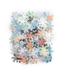 Cekiny śnieżynki białe niebieskie różowe