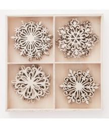 Dekory ze sklejki DP Craft - Śnieżynki