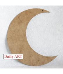 Zawieszka z HDF Daily Art, Księżyc mały 12x10 cm
