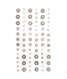Kryształki do scrapbookingu, srebrne ze złotymi drobinkami GRKR-071