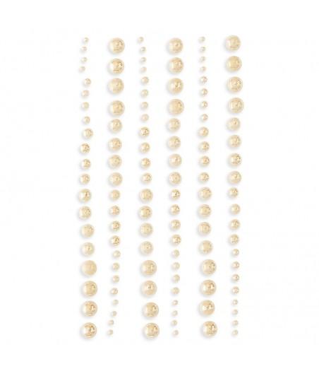 Samoprzylepne perełki kremowe - opalizujące, GRPE-050 DP Craft