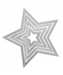 Zestaw wykrojników DP Craft - przeszywane gwiazdy
