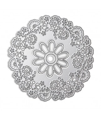 Zestaw wykrojników DP Craft - Kwiaty - stokrotka i kwietna ramka