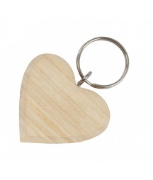 Brelok drewniany serce - baza do decoupage