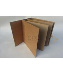 Baza albumowa do scrapbookingu harmonijka 155x155 w okładce z wiązaniem, kraft / Eco Scrapbooking
