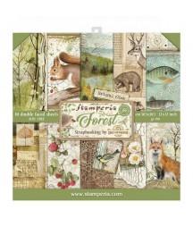 Zestaw papierów do scrapbookingu, Forest by Cristina Radovan. SBBL63 Stamperia