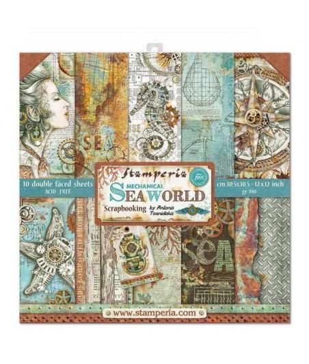 Papiery do scrapbookingu Stamperia, Mechanical Sea World SBBL64 Antonis Tzanidakis