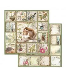 Papier do scrapbookingu 12x12, Stamperia - Forest SBB655 - leśne zwierzęta