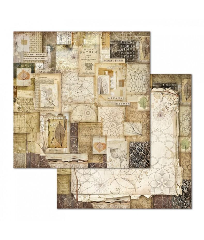 Papier do scrapbookingu 12x12, Stamperia - Forest SBB659 - patchwork natura