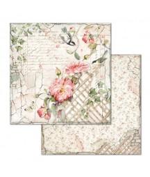 Papier do scrapbookingu Stamperia, House of Roses - Sikorki i róże SBB673
