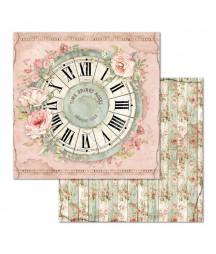 Papier do scrapbookingu Stamperia House of Roses, Różany zegar SBB674