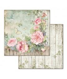 Papier do scrapbookingu Stamperia House of Roses, Róże i motyle SBB675