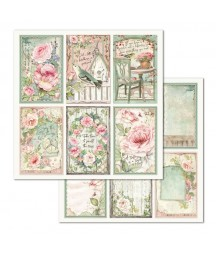 Papier do scrapbookingu Stamperia House of Roses, Karty 4x6 cali SBB676